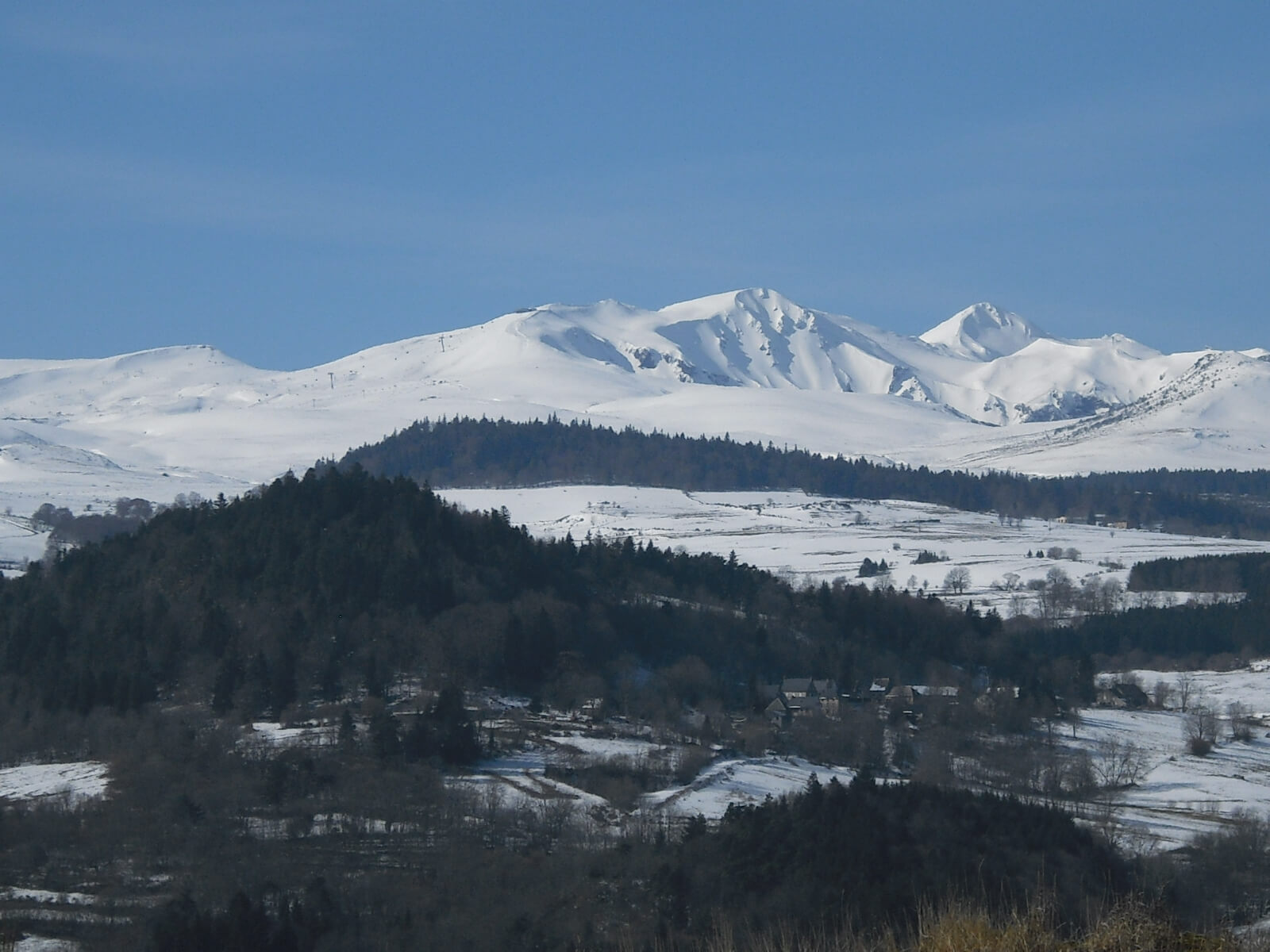 The Puy de Sancy in the snow